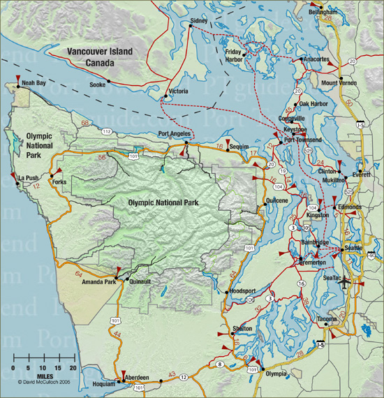 whidbey island map. ferry from Whidbey Island:
